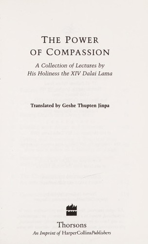 The Power of compassion by 14th Dalai Lama