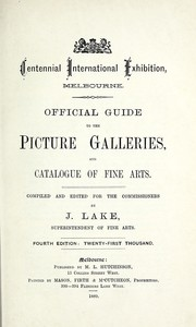 Official guide to the picture galleries, and catalogue of fine arts