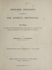Cover of: English children as painted by Sir Joshua Reynolds
