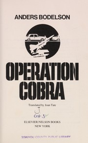 Cover of: Operation Cobra | Bodelsen, Anders