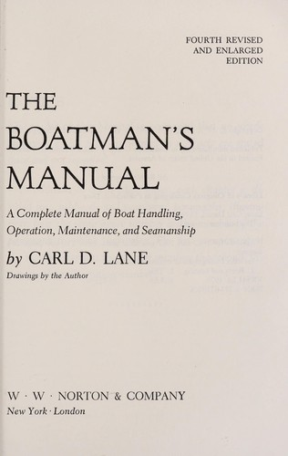 The boatman's manual by Carl Daniel Lane