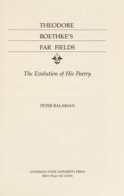 Cover of: Theodore Roethke's far fields
