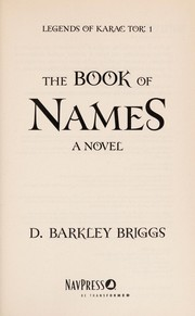 Cover of: The book of names: a novel