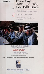 Cover of: The rough guide to Jordan | Matthew Teller