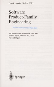 Cover of: Software product-family engineering | PFE 2001 (2001 Bilbao, Spain)