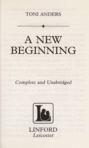 Cover of: A new beginning | Toni Anders