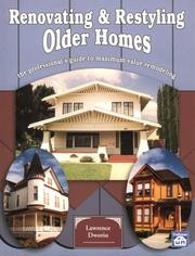 Cover of: Renovating & restyling vintage homes