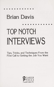 Cover of: Top notch interviews | Brian Davis