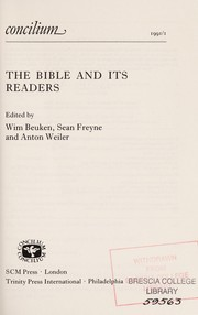 Cover of: The Bible and its readers