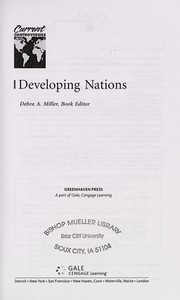 Cover of: Developing nations | Debra A. Miller