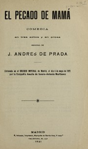Cover of: El pecado de mamá