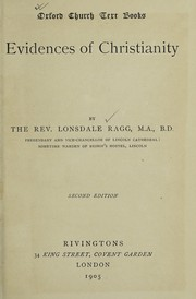 Cover of: Evidences of Christianity by Lonsdale Ragg