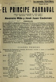 Cover of: El príncipe carnaval