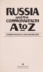 Cover of: Russia and the commonwealth A to Z