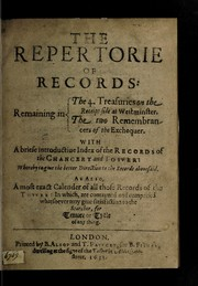 Cover of: The repertorie of records