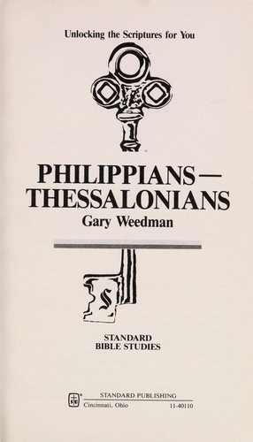 Philippians--Thessalonians by Gary Weedman