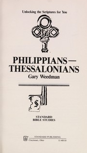 Cover of: Philippians--Thessalonians | Gary Weedman