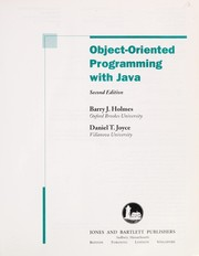 Cover of: Object-oriented programming with Java | B. J. Holmes