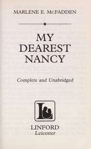 Cover of: My dearest Nancy