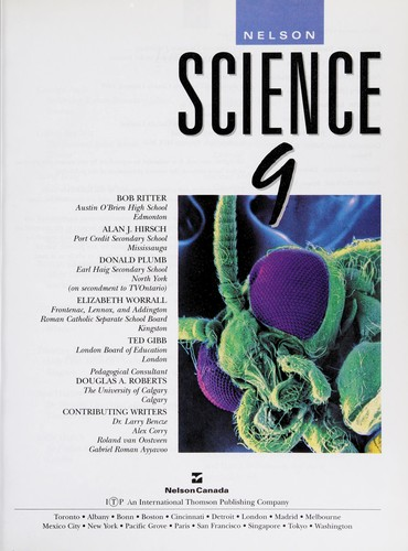 Nelson science 9 by Bob Ritter ... [et al.].