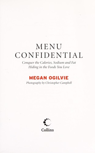 Menu confidential by Megan Ogilvie