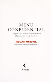 Cover of: Menu confidential | Megan Ogilvie