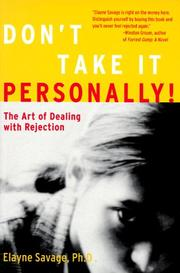 Cover of: Don't take it personally!