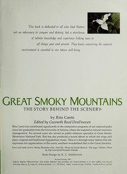 Cover of: Great Smoky Mountains | Rita CantuМ""
