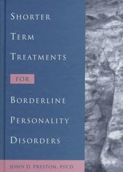 Cover of: Shorter term treatments for borderline personality disorders