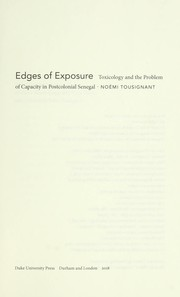 Cover of: Edges of exposure | NoГ©mi Tousignant