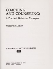 Cover of: Coaching and counseling | Marianne Minor