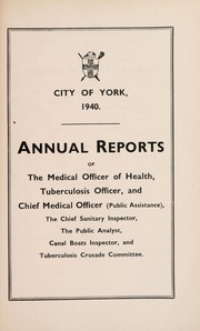 Cover of: [Report 1940] | York (England). City Council