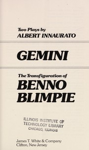 Cover of: Gemini ; The transfiguration of Benno Blimpie