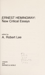 Cover of: Ernest Hemingway, new critical essays |