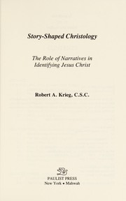 Cover of: Story-shaped Christology