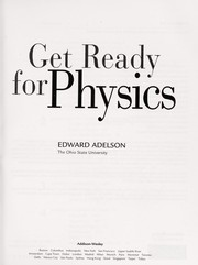 Cover of: Get ready for physics