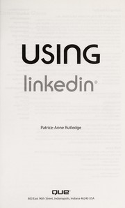 Cover of: Using LinkedIn | Patrice-Anne Rutledge