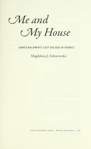 Cover of: Me and my house