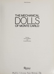 Cover of: The mechanical dolls of Monte Carlo | AndreМЃ Soriano