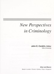 Cover of: New perspectives in criminology | John E. Conklin, editor.