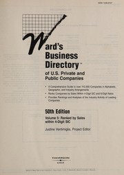Cover of: Wards Business Directory (Ward