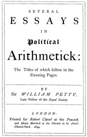 Cover of: Several essays in political arithmetick