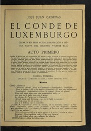 Cover of: El conde de Luxemburgo