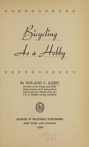 Bicycling as a hobby