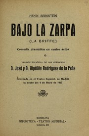 Cover of: Bajo la zarpa