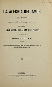 Cover of: La alegría del amor