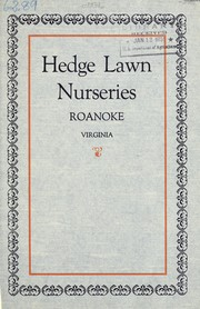 Cover of: Hedge Lawn Nurseries [catalog] | Hedge Lawn Nurseries (Roanoke, Va.)