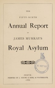 Cover of: The fifty-ninth annual report of James Murray