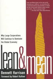 Lean and mean by Bennett Harrison