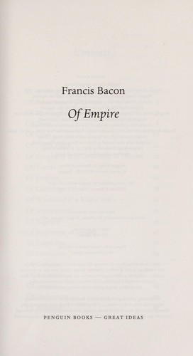 Of empire by Francis Bacon